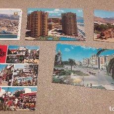 Postales: POSTALES.... CINCO POSTALES DE MÁLAGA Y PROVINCIA.....ESCRITAS Y CIRCULADAS..... Lote 136600822