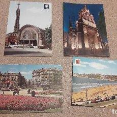 Postales: POSTALES.. CUATRO POSTALES DE BILBAO......ESCRITAS Y CIRCULADAS... Lote 136859198
