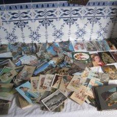 Postales: INTERESANTE LOTE DE MAS DE 300 OPOSTALES EN BLANCO Y NEGRO,EN COLOR ROMANTICAS ,RELIGIOSAS Y MAS. Lote 140406826