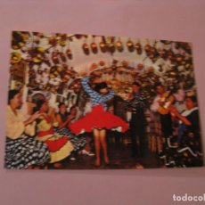 Postales: POSTAL GRANDE. BAILE GITANO EN UNA SUAVE. ED. SAVIR.. Lote 143338254