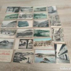 Postales: LOTE 22 POSTALES ANTIGUAS AÑOS 20 / FUENTERRABIA -SAN SEBASTIAN -MALLORCA -TOROS -MADRID -MONSERRAT. Lote 143452850