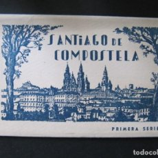 Postales: BLOC PEQUEÑO ALBUM SANTIAGO DE COMPOSTELA PRIMERA SERIE. 12 POSTALES. Lote 144310618