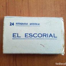 Postales: EL ESCORIAL - 24 FOTOGRAFÍAS ARTÍSTICAS - HELIOTIPIA B/N. Lote 144551934