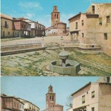 Postales: LOTE 2 POSTALES DE AREVALO AVILA AÑOS 60. Lote 147858494