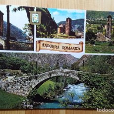 Postales: ANDORRA ROMANICA VALLS D´ANDORRA DIFERENTES ASPECTOS Nº 201 - ED. ESCUDO DE ORO 2 SELLOS DE ANDORRA. Lote 148067518