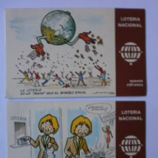 Postales: 2 POSTALES LOTERIA NACIONAL 1979 NUEVAS. Lote 149613826