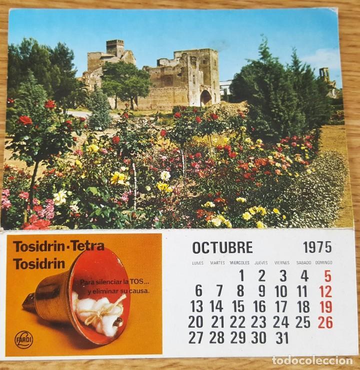 POSTAL DE BADAJOZ, CON PROPAGANDA TOSIDRIN Y CALENDARIO OCTUBRE 1975- EDICIONES FARDI (Postales - España - Sin Clasificar Moderna (desde 1.940))