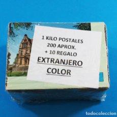 Postales: 1 KILOS (APROX 200) POSTALES EXTRANJERAS COLOR CIRCULADAS Y SIN CIRCULAR +10 DE REGALO. Lote 154368782