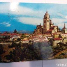 Postales: BJS.LINDA POSTAL CATEDRAL Y MURALLAS - SEGOVIA.CIRCULADA.COMPLETA TU COLECCION.. Lote 155912730