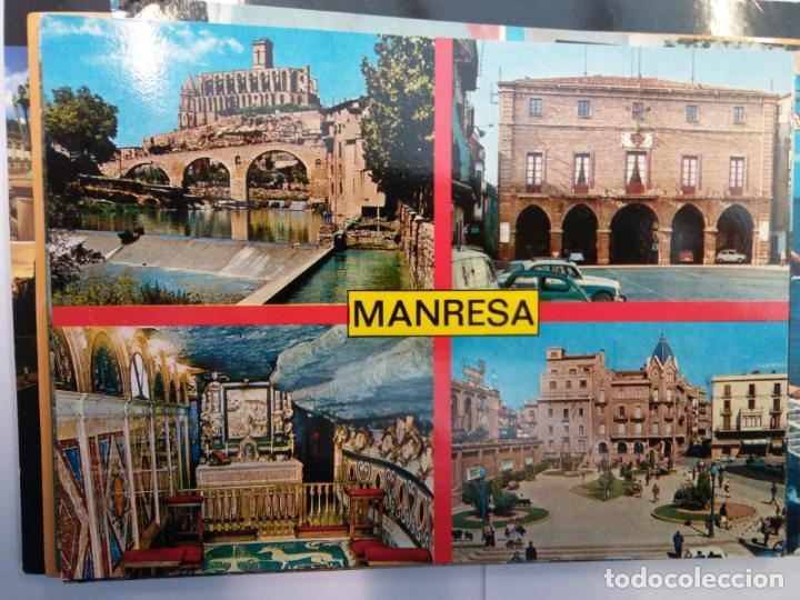 BJS.LINDA POSTAL MANRESA - BARCELONA.ESCRITA.COMPLETA TU COLECCION. (Postales - España - Sin Clasificar Moderna (desde 1.940))