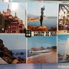 Postales: BJS.LINDA POSTAL LLORET DE MAR - COSTA BRAVA.ESCRITA.COMPLETA TU COLECCION.. Lote 155917918