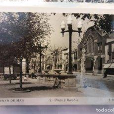 Postales: BJS.LINDA POSTAL PLAZA Y RAMBLA - ARENYS DE MAR.SIN USAR.COMPLETA TU COLECCION.. Lote 155942966