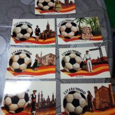 Postales: ESPAÑA 82, 7 POSTALES VALENCIA / OVIEDO- JIGON, ALICANTE-ELCHE..... Lote 156639841