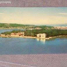 Postales: ANTIGUA POSTAL - LA TOJA - PONTEVEDRA ,, TIENE EL FILO SUPERIOR CORTADO - 1963 FOTOS FOAT. Lote 160234578