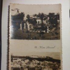 Postales - POSTAL ANTIGUA Nº 12-13 TETUAN AÑOS 50, PLAZA DE ESPAÑA Y VISTA PARCIAL POSTCARD MARRUECOS. - 161838582