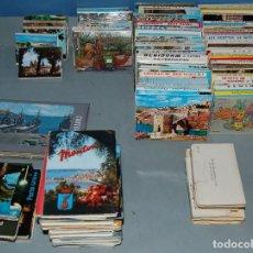 Postales: LOTE MÁS DE 90 ALBUM DE POSTALES EN ACORDEON VARIADOS DE TODA ESPAÑA Y ALGUNOS EXTRANJEROS. Lote 162724902