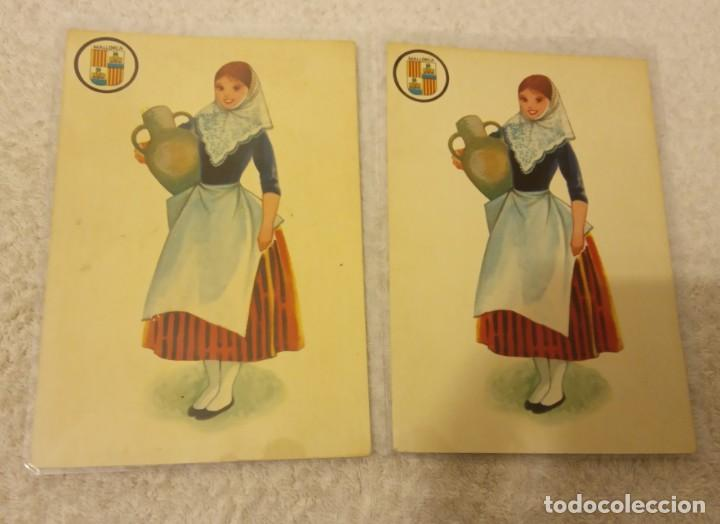 Postales: -LOTE DE 4 POSTALES TRAJES REGIONAL ESPAÑA AÑOS 69-70 SIN ESCRIBIR EN BUEN ESTADO - Foto 3 - 168761052