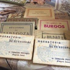 Postales: LOTE DE 9 CARTERAS CON POSTALES VARIAS, DESCONOZCO LA TEMÁTICA. Lote 169011297