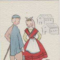 Cartes Postales: POSTALES POSTAL ASTURIAS ASTURIANOS AÑOS 40. Lote 173549992
