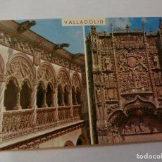 Postales: POSTAL VALLADOLID - FACHADA Y PATIO COLEGIO DE SAN GREGORIO - CIRCULADA. . Lote 178937818