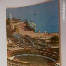 Postales: POSTAL MALAGA - PLAZA DE TOROS Y VISTA PARCIAL DEL PUERTO - AÑO 1962 - CIRCULADA. . Lote 178938376