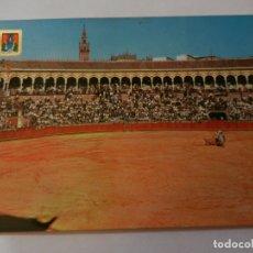 Postales: POSTAL SEVILLA PLAZA DE TOROS DE LA MAESTRANZA - AÑO 1964 - CIRCULADA. . Lote 178938635