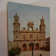Postales: POSTAL LAS PALMA G.C. - LA CATEDRAL - AÑO 1958 - CIRCULADA. . Lote 178938792