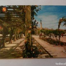 Postales: POSTAL JAÉN - PARQUE DE LA VICTORIA Y ESTATUTA DE LAS BATALLAS - CIRCULADA. . Lote 178949177