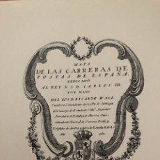 Postales: MAPA DE LAS CARRERAS DE POSTAS DE ESPAÑA. Lote 179028938