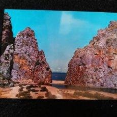 Postales: TARJETA POSTAL FOTOGRAFICA - PALMA DE MALLORCA SA CALOBRA DESEMBOCADURA Y PLAYA TORRENTE DE PAREIS. Lote 179071468