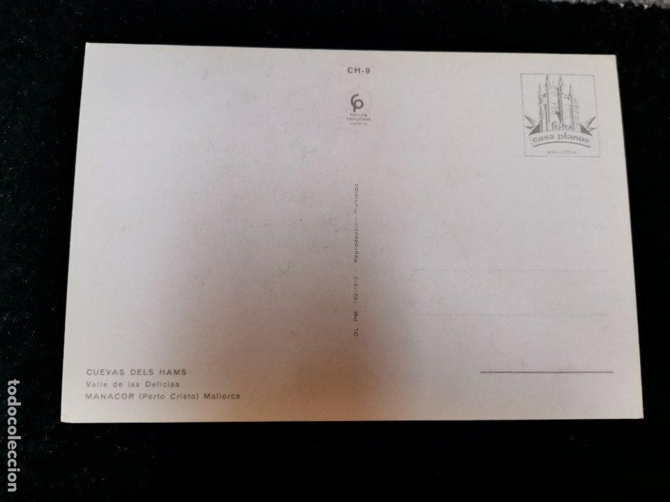 Postales: TARJETA POSTAL FOTOGRAFICA - PALMA DE MALLORCA CUEVAS DELS HAMS MANACOR - Foto 2 - 179071890