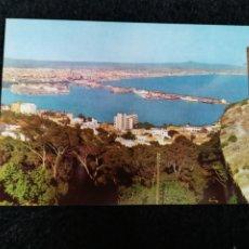 Postales: TARJETA POSTAL FOTOGRAFICA - PALMA DE MALLORCA VISTA GENERAL DESDE EL CASTILLO DE BELLVER. Lote 179072898