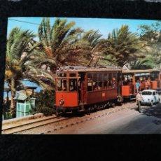 Postales: TARJETA POSTAL FOTOGRAFICA - PALMA DE MALLORCA PUERTO DE SOLLER TRANVIA. Lote 179073003