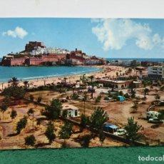 Postales: PEÑISCOLA CAMPING PAPA DE MAR . Lote 182237945