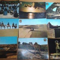 Postales: MUY BONITO LOTE DE 9 POSTALES SIN CIRCULAR DEL SAHARA ESPAÑOL (EL AAIÚN) (DÉCADA 1960). Lote 186107796