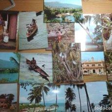 Postales: MUY BONITO LOTE DE 9 POSTALES SIN CIRCULAR DE GUINEA ECUATORIAL (DÉCADA 1960). Lote 186107996