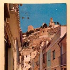 "Postales: POSTAL ANTIGUA ""CULLERA"" VALENCIA 1976 CALLE SANTA ANA Y CASTILLO. Lote 186294393"