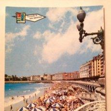 "Postales: POSTAL ANTIGUA ""SAN SEBASTIAN"" PLAYA DE LA CONCHA 1970. Lote 186294843"