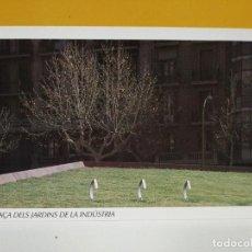 Postales: POSTAL INAGURACION PLAZA DE LOS JARDINES DE INDUSTRIA BARCELONA . Lote 187471810
