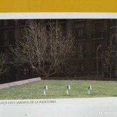 Postales: POSTAL INAGURACION PLAZA DE LOS JARDINES DE INDUSTRIA BARCELONA . Lote 187471815