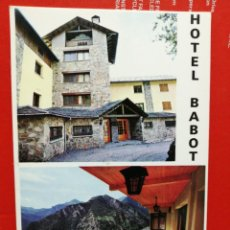 Postales: POSTAL HOTEL BABOT ANDORRA SIN USAR . Lote 191233061