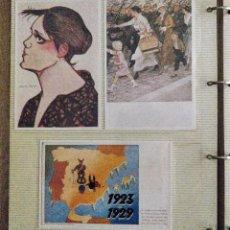 Postales: ÁLBUM CON 73 POSTALES ANTIGUAS CON GRABADOS. Lote 191598262
