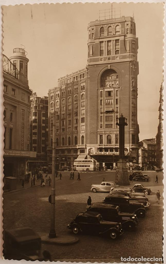 TARJETA POSTAL PLAZA DEL CALLAO, MADRID, 1948 (Postales - España - Sin Clasificar Moderna (desde 1.940))