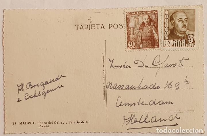 Postales: TARJETA POSTAL PLAZA DEL CALLAO, MADRID, 1948 - Foto 2 - 194678842