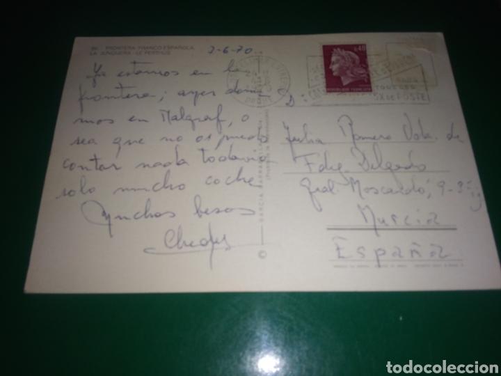 Postales: Antigua postal de Frontera Franco española. La Junquera. Le Perthus. Años 60 - Foto 2 - 195015827
