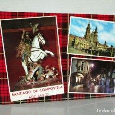 Postais: POSTAL SANTIAGO DE COMPOSTELA AÑO SANTO VARIOS ASPECTOS. Lote 197376473