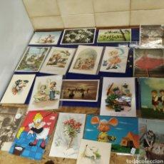 Postales: 19 POSTALES AÑOS 50 Y 60. Lote 197653685