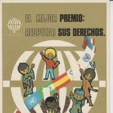 Postales: LOTE Z-POSTAL AÑO INTERNACIONAL DEL NIÑO MATA SELLOS GIJON ESPERANTO. Lote 278919683