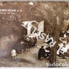Postales: ANTIGÜA FOTO POSTAL DE SAN HILARIO SACALM Nº 14 FUENTE DEL PICO CIRCULADA. Lote 199219031