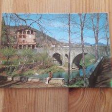 Postales: OLOT PONT DE SANT ROC GARROTXA PONT SOBRE EL RIU FLUVIÀ. Lote 199383507